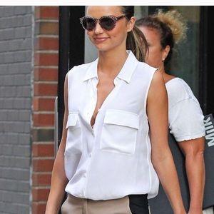 Equipment cotton white blouse